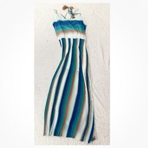 W by worth stripe tassel maxi dress lightweight